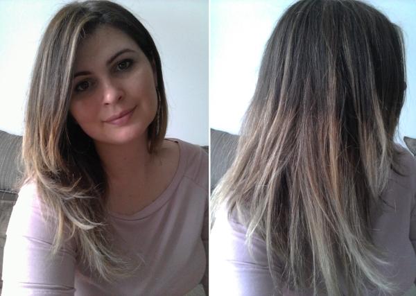 Extremamente Meus cabelos com mechas esfumadas estilo Ombré Highlights NM49