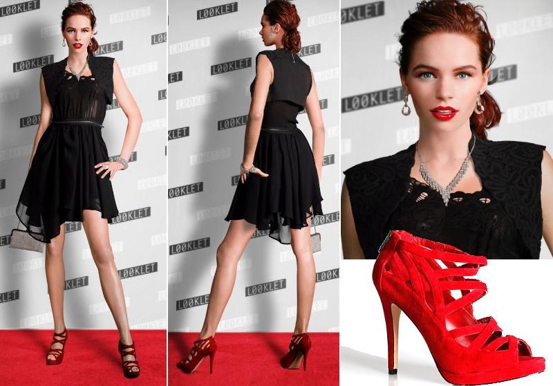 Bolsa De Festa Com Vestido Preto : Batom vermelho como usar preto