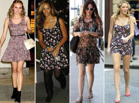Vestidos florais, viva o verão!   vestido floral 4   roupas moda    Vestidos verão 2011 tendência primavera/verão Moda floridos florais Copie o Look