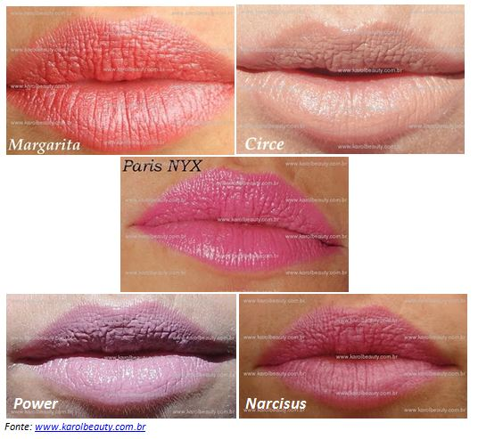 Swatches   NYX Round Lipstick   Fotos!   nyx round lipstick swatches 1   maquiagens makeup boca    Vermelho swatches rosa pink NYX Round Lipstick NYX Maquiagens coral Cobre Cherry Culture Bronze Bege batons 