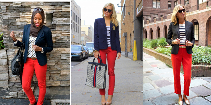 moda-outono-inverno-2014-tendencias-blazer-azul-calca-vermelha