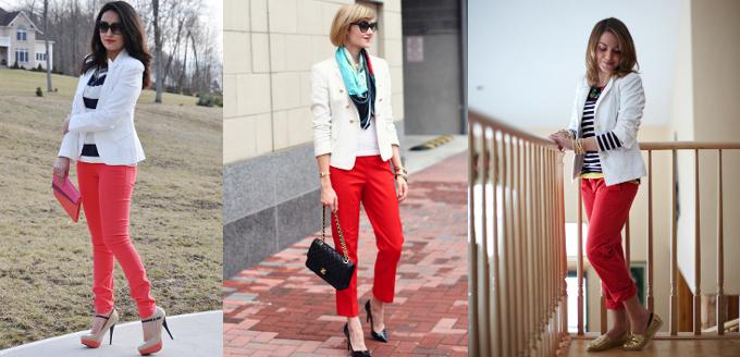 moda-outono-inverno-2014-tendencias-blazer-branco-calca-vermelha