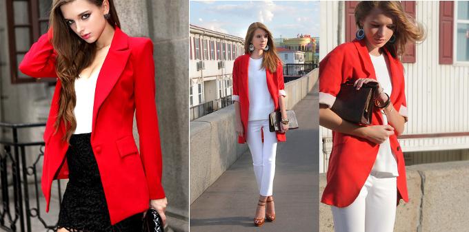moda-outono-inverno-2014-tendencias-blazer-vermelho-camisa-branca